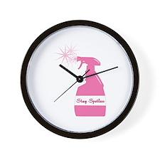 Stay Spotless Wall Clock