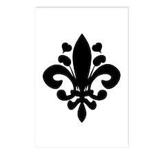 Gothic Fleur de Lis Postcards (Package of 8)