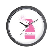 Cleaning Bottle Wall Clock