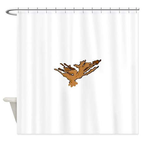 Brown Coral Shower Curtain By Aquaticanimals
