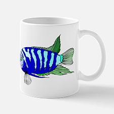 Blue Striped Cichlid Mugs