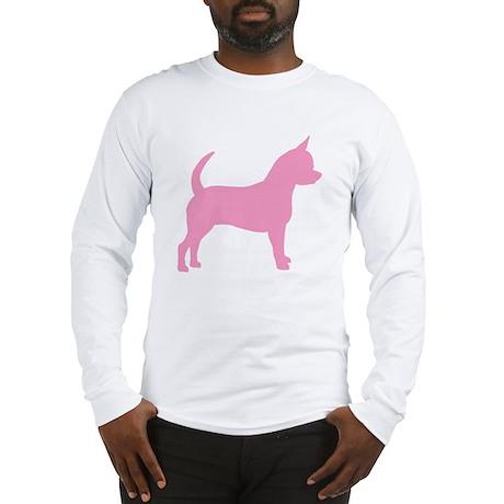 Pink Chihuahua Dog Long Sleeve T-Shirt