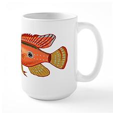 Red Cichlid Fish Mugs