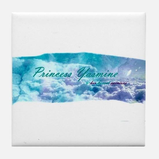 Official Princess Yasmine Logo Tile Coaster