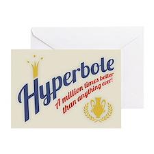 Hyperbole Greeting Card