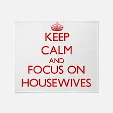 Cute Housewives Throw Blanket