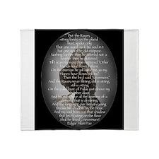 Edgar Allen Poe The Raven Poem Throw Blanket