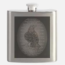 Edgar Allen Poe The Raven Poem Flask