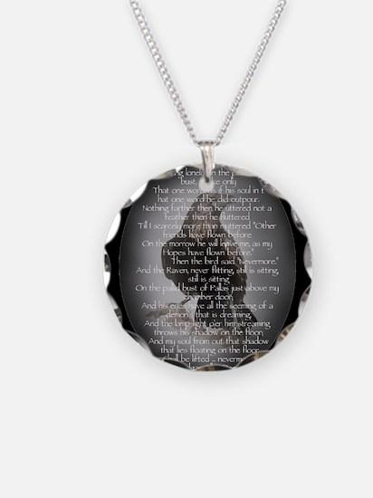 Edgar Allen Poe The Raven Poem Necklace Circle Cha