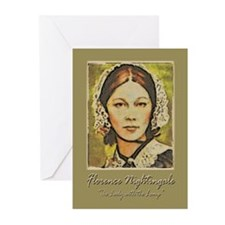 Florence Lady with Lamp Greeting Cards (Pk of 10)