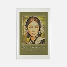 Florence Lady with Lamp Rectangle Magnet