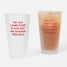 jai alai Drinking Glass
