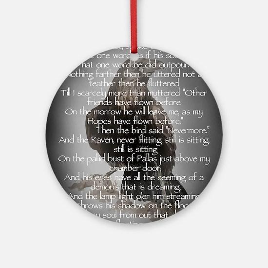 Edgar Allen Poe The Raven Poem Ornament (Round)