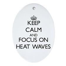 Cute Heat wave Ornament (Oval)
