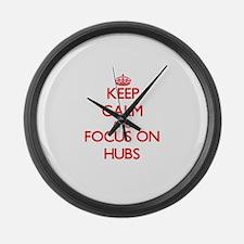Cute Keep calm up Large Wall Clock