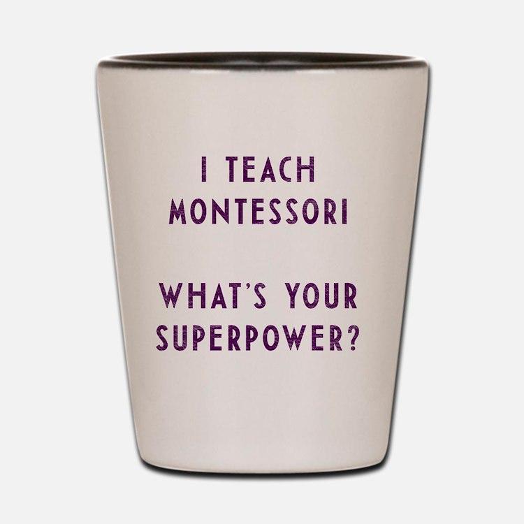 Cute Montessori Shot Glass