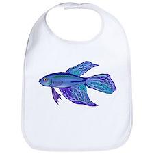 Blue Betta Fish Bib