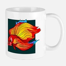 Orange Betta Fish Mugs