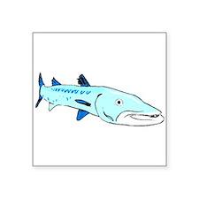 Blue Barracuda Sticker