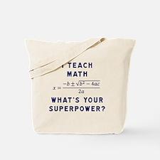 Unique Algebra teacher Tote Bag