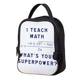 Math Neoprene Lunch Bag