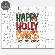 HAPPY HOLLY DAYS CHRISTMAS 2012 Puzzle