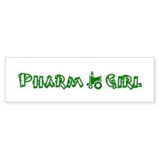 Pharm Girl Bumper Bumper Sticker