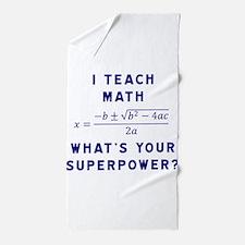 Cute Math Beach Towel
