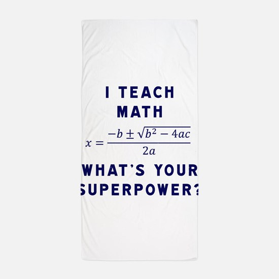 Funny Algebra Beach Towel