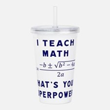 Cute Math Acrylic Double-wall Tumbler