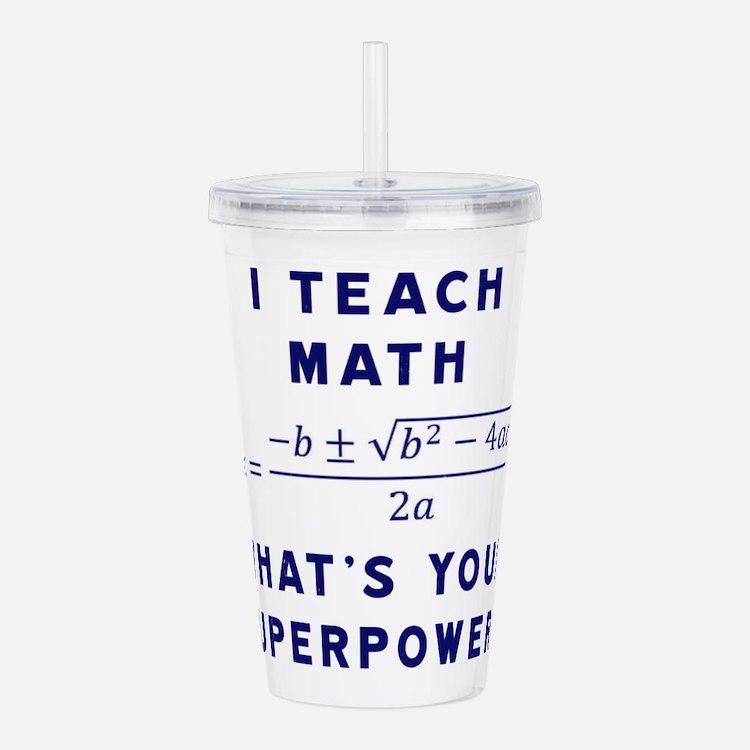 Cute Math teacher Acrylic Double-wall Tumbler