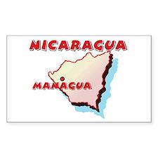 Nicaragua Map Rectangle Decal