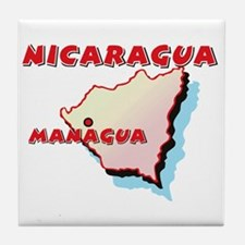 Nicaragua Map Tile Coaster