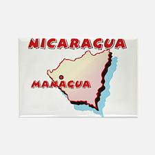 Nicaragua Map Rectangle Magnet