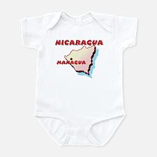 Nicaragua Map Infant Bodysuit