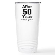 Cute 50th anniversary Travel Mug