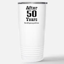 Unique 50th anniversary Travel Mug