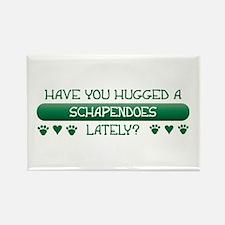 Hugged Schapendoes Rectangle Magnet