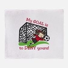 My Goal Throw Blanket