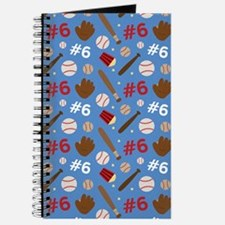 Baseball Player 6 Sports Journal