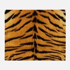 Tiger Fur Print Throw Blanket