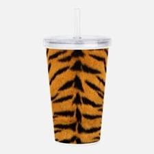Tiger Fur Print Acrylic Double-wall Tumbler