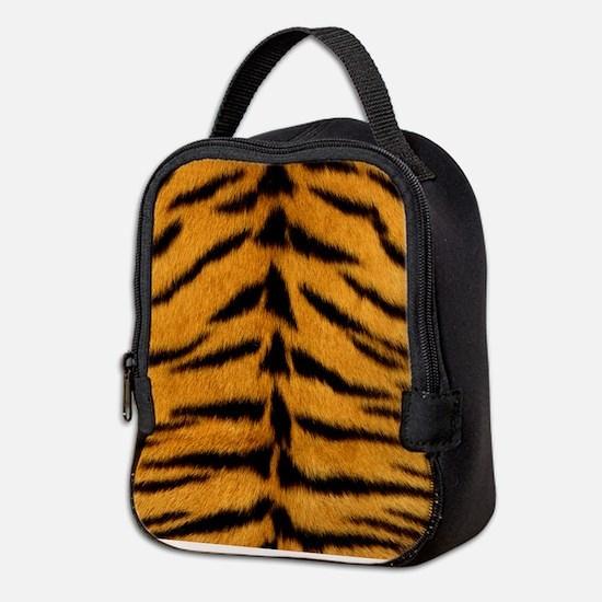 Tiger Fur Print Neoprene Lunch Bag