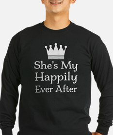 Mens Couples Fairytale Quote Long Sleeve T-Shirt