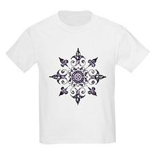 Ornate Symbol Black Blue Muted purpl T-Shirt