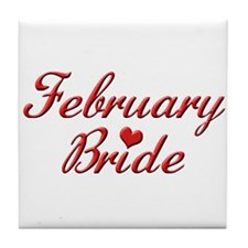 February Bride Tile Coaster