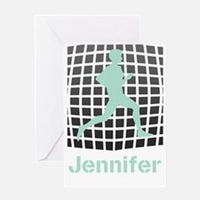 Mint Jogging Personalized Greeting Card