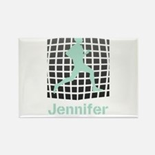 Mint Jogging Personalized Rectangle Magnet