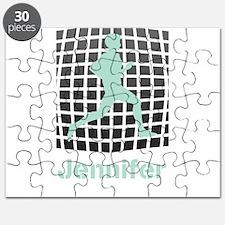 Mint Jogging Personalized Puzzle