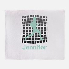 Mint Jogging Personalized Throw Blanket